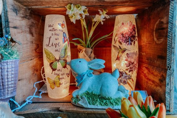 Spring Lighted Vases